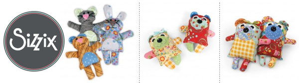 Maggie and Quincy and Cat, Bunny, Bear Dies from Sizzix