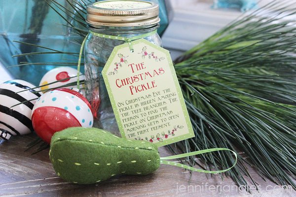do you have a pickle ornament on your tree this is a fun tradition that the jangles family has been doing for years the boys love it - Pickle Christmas Ornament Story
