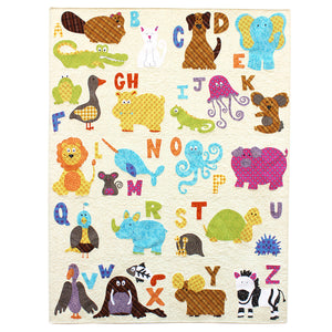 ABC Animals Applique Quilt Paper Sewing Pattern by Jennifer Jangles