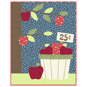 Apples For Sale Applique Quilt Sewing Pattern by Jennifer Jangles