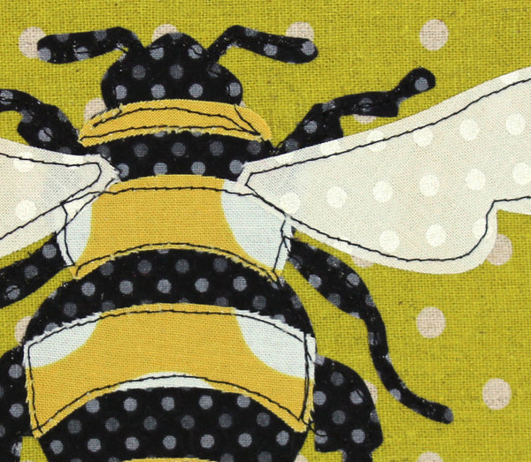 Bee Applique Hoop Art Pattern