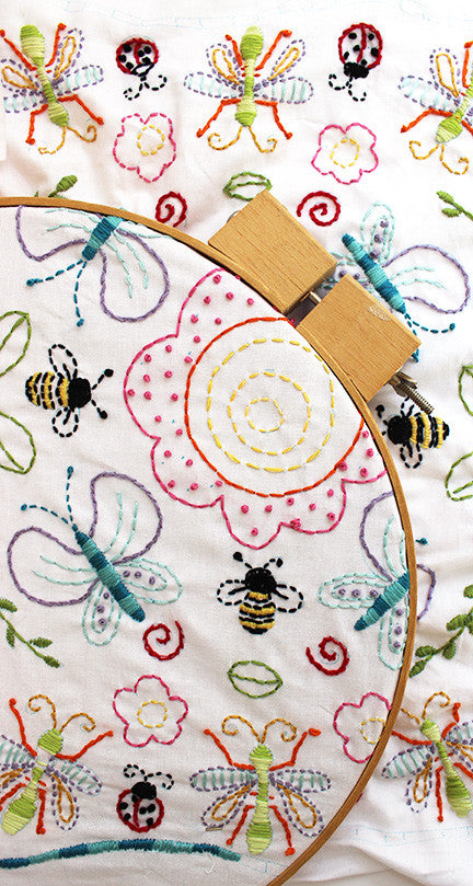 Embroidery Pattern - Flowers and Insects - PDF - Jennifer Jangles