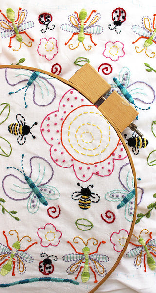 PDF Embroidery Pattern - Flowers and Insects