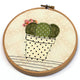 Cactus Applique Hoop Art Sewing Pattern by Jennifer Jangles