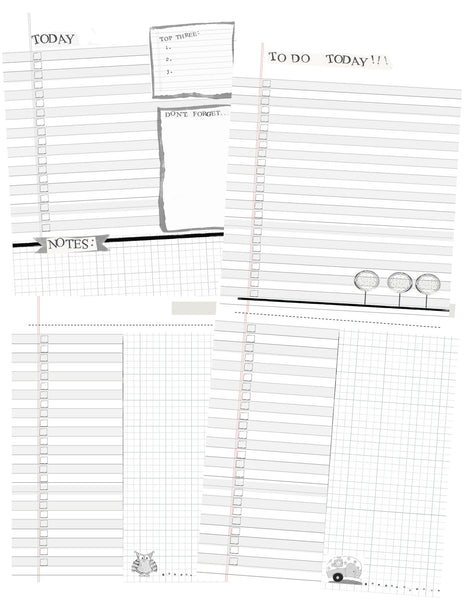 PDF Printable - Calendar and Planner Pages -Sewing Pattern by Jennifer Jangles