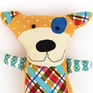 Doug the Dog Softie Sewing Pattern - PDF -Sewing Pattern by Jennifer Jangles