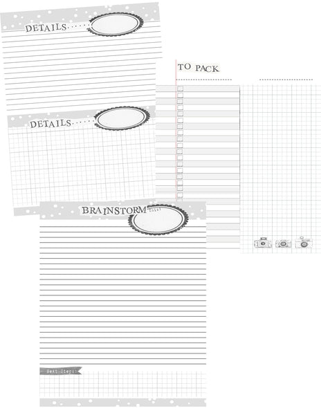 PDF Printable - Calendar and Planner Pages