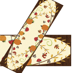 A Walk in the Woods Fall Table Runner Applique Sewing Pattern by Jennifer Jangles