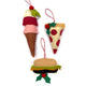 Ice cream cone, pizza & cheeseburger ornaments included in the Food Fun Felt Holiday Ornaments Sewing Pattern by Jennifer Jangles