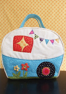Back of Happy Camper Bag Sewing Pattern by Jennifer Jangles