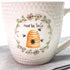 Honey Bee Tea Co. Ceramic Mug (Hive + Flowers)