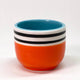 Mini Patterned Planters - Orange/Turquoise Stripe