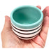 Mini Patterned Planters - Turquoise Stripes