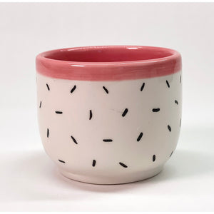 Mini Patterned Planters - Pink Sprinkles