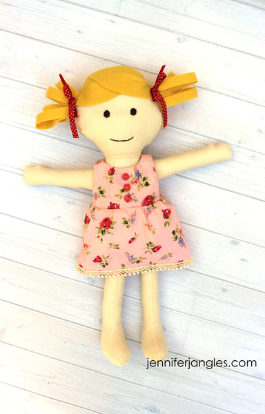 Make a Friend Doll Sewing Pattern - PDF -Sewing Pattern by Jennifer Jangles