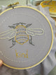 Four Stitch Sampler - Bee Kind Embroidery Kit by Jennifer Jangles