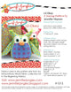 Lil' Okey Stuffed Owl Sewing Pattern - PDF -Sewing Pattern by Jennifer Jangles