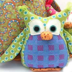 Lil' Okey Stuffed Owl Sewing Pattern