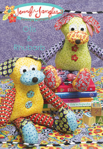 Dog Softie Otis and Rhubarb Sewing Pattern - PDF -Sewing Pattern by Jennifer Jangles