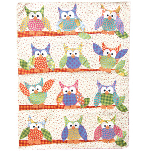 Okey Dokey Owl and Friends Applique Quilt Sewing Pattern by Jennifer Jangles