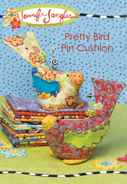 Pretty Bird Pin Cushion - PDF -Sewing Pattern by Jennifer Jangles