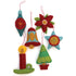 Retro Holiday Felt Ornaments Sewing Pattern