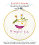 Four Stitch Sampler - Simplici-tea Embroidery Kit
