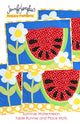 Summer Watermelon Place Mats and Table Runner Appliqué Sewing Pattern by Jennifer Jangles