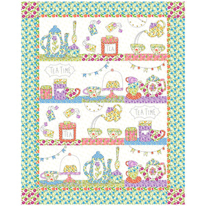 Tea Time Appliqué Quilt Sewing Pattern by Jennifer Jangles