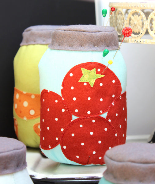 PDF Farmer's Market Mason Jars Pin Cushion Pattern