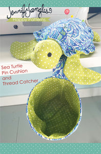 Sea Turtle Pin Cushion and Thread Catcher - PDF