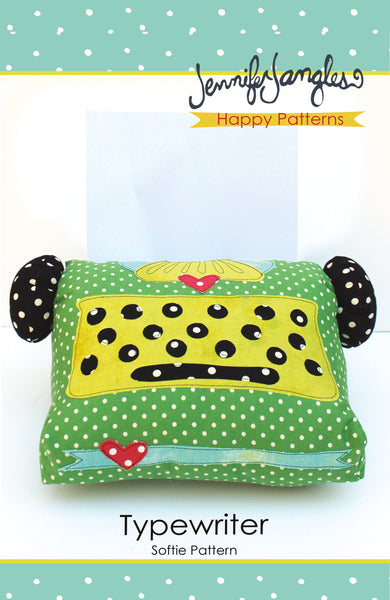 Typewriter Softie - PDF -Sewing Pattern by Jennifer Jangles