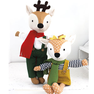 Willow and Darby Deer Make a Friend Sewing Pattern by Jennifer Jangles