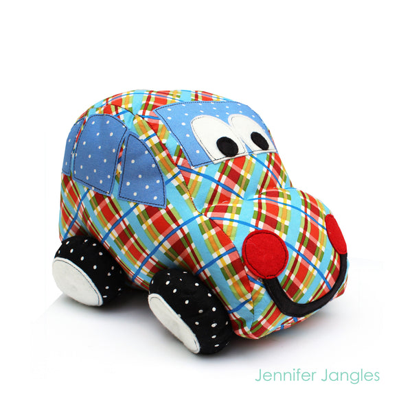 Zoom Zoom Car Softie PDF Pattern -Sewing Pattern by Jennifer Jangles