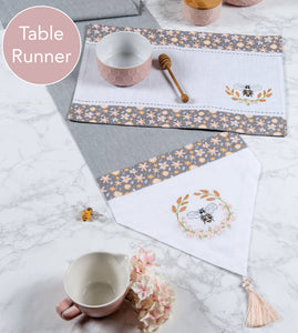 Bee Inspired - Embroidered Table Runner