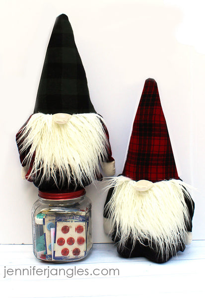 Holiday Gnome Softie -Sewing Pattern by Jennifer Jangles