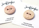 "Handmade Ceramic Button - 1"" Round Button - Stamped Light Pink"