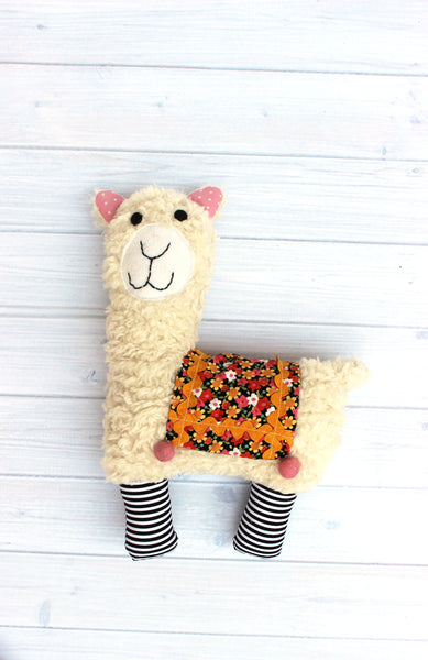 Little Llama Softie Pattern - PDF -Sewing Pattern by Jennifer Jangles