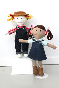 Make a Friend Farmer and Cow Girl Clothes Sewing Pattern