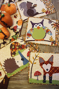 A Walk in the Woods Fall Place Mat Applique Sewing Pattern -Sewing Pattern by Jennifer Jangles