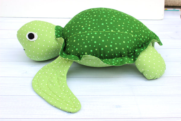 Sea Turtle Softie Sewing Pattern - PDF -Sewing Pattern by Jennifer Jangles