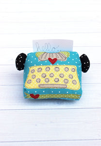 Junior Typewriter Softie / Pincushion - PDF -Sewing Pattern by Jennifer Jangles