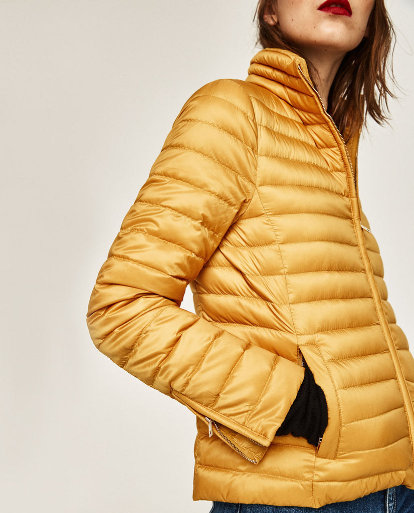 Zara Mini Puffer Jacket Sz: S