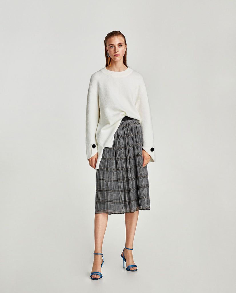 d7ef8b3f Zara Pleated Skirt Sz M – Peacock Boutique Consignment