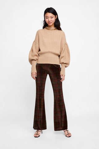 Zara Checkered Trousers Sz. M