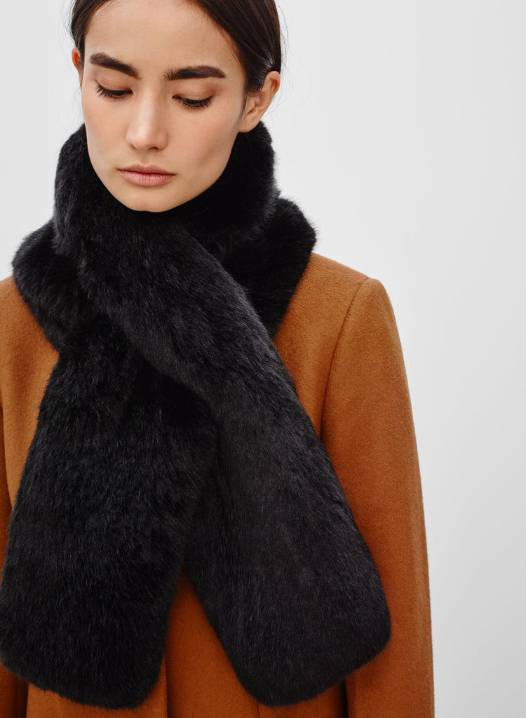 Babaton Faux Fur Pull Through Scarf