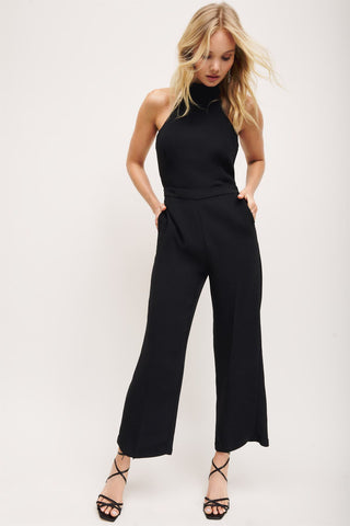 Dynamite Mock Neck Jumpsuit Sz: L