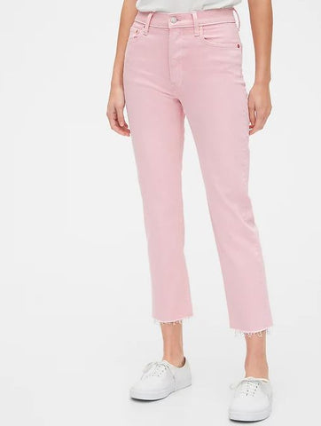 Gap Pink Cheeky Straight Jeans Sz: 30
