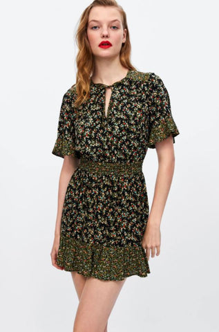 Zara Floral Mini Dress Sz: S