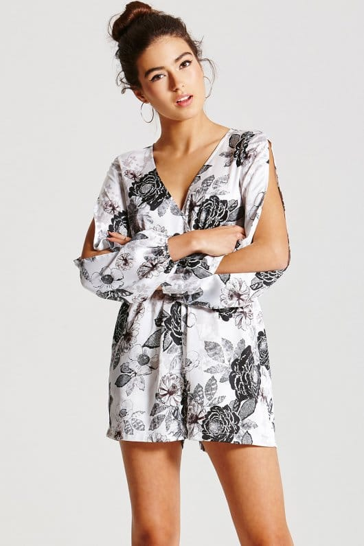 NWT Girls on Film Floral Playsuit Sz: 8